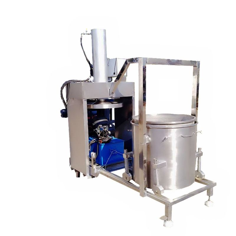 automatic electric fruit hydraulic coconut milk fruit juice making machine