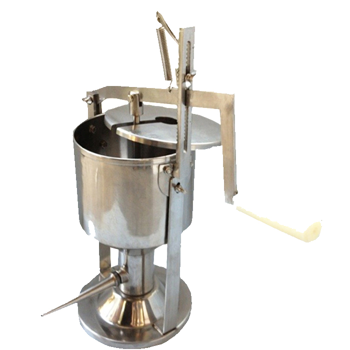 small manual cream jar puff filling machine