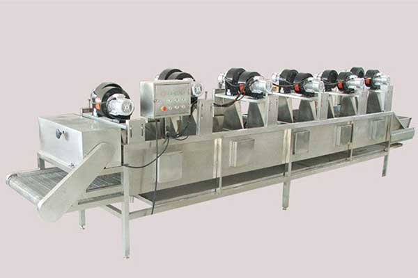 Fruit and vegetable surface air drying machine