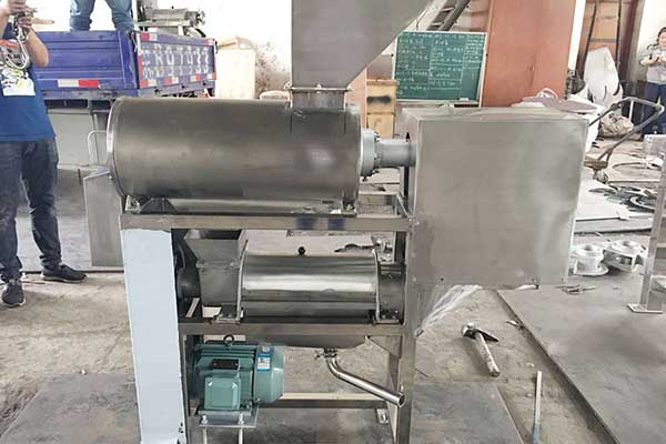 Fruit Pit Removing and Juice Extracting Machine